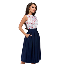 Printed Dress 2018 New Fashion Women Summer Tank Dress Casual Elegant Prom Knee-Length Elegant Party Dresses Vestidos