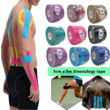 1 roll 5mx5cm Athletic Taping Athletic Kinesiology Tape Sport Taping Strapping Elastoplast Football Knee Muscle  Sticker candino sport athletic chic c4522 1
