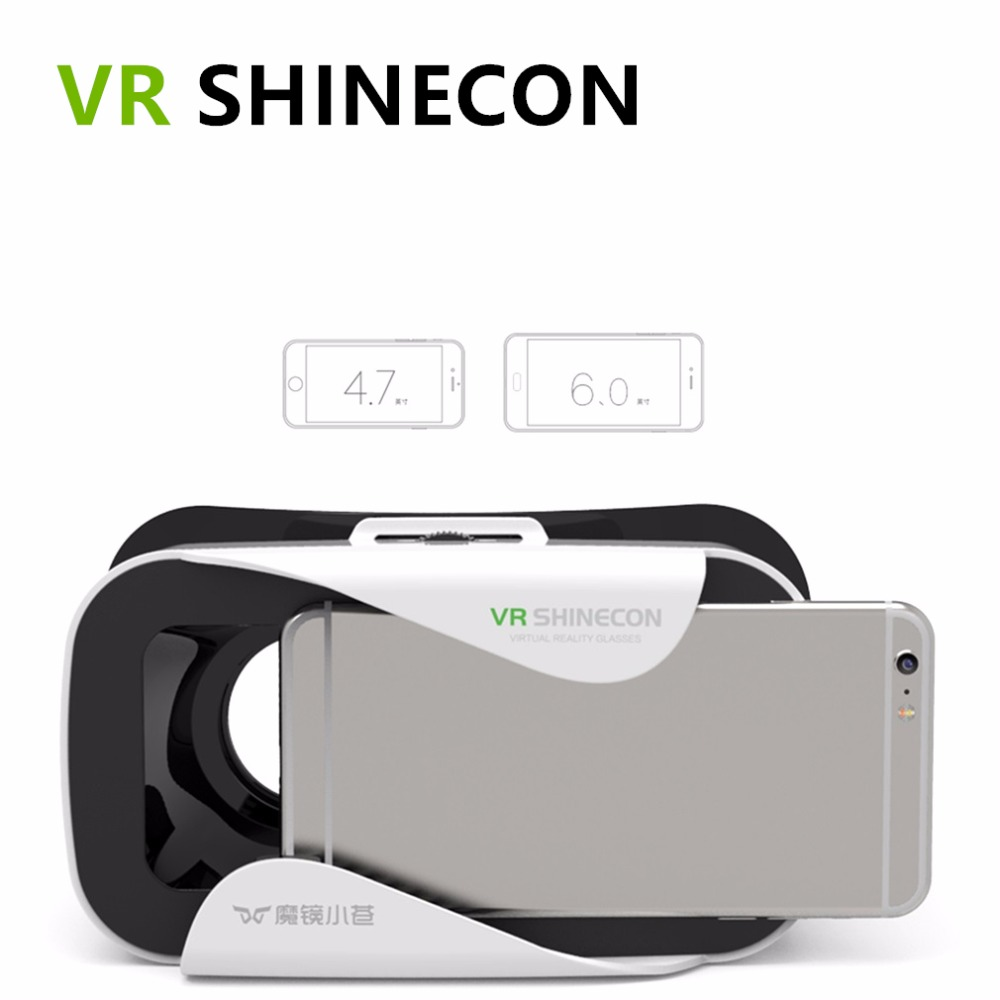 VR Shinecon III Head-Mount Cardboard Virtual Reality Glasses Mobile 3D Video Movie Glasses 3 D VR Helmet Park for 4.7-6.0