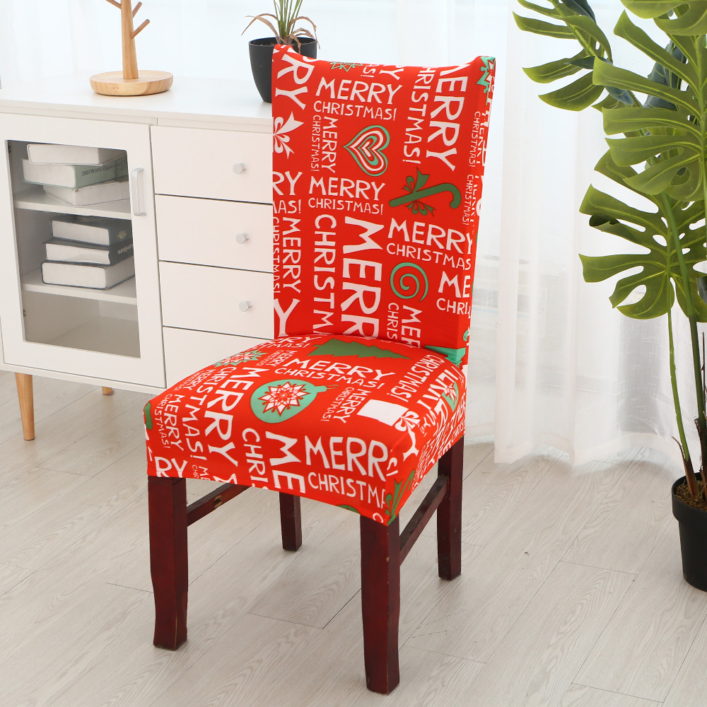 christmas chair covers the range boston interiors and a half aliexpress com buy merry cover spandex jubilation red elastic stretch modern family decoration slipcover seat protect from