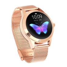 2019 KW10 Smart bracelet women Heart Rate IP68 Bluetooth Watch Stainless Steel Smartbracelet Waterproof