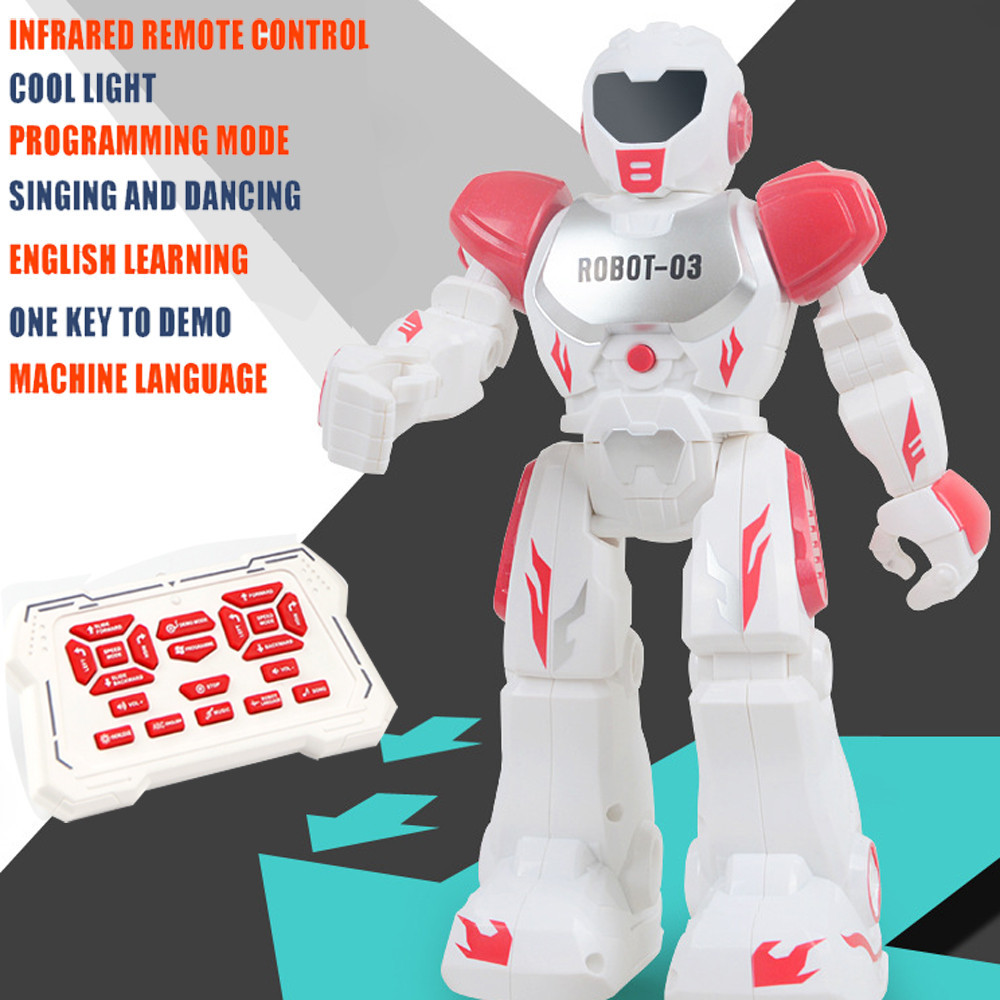 Multifunctional Remote Control Robot Singing Dancing Robot With Music Light RC Toys Action Figures Gift For Boys Girls 12pcs set children kids toys gift mini figures toys little pet animal cat dog lps action figures