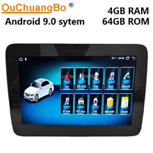 Ouchuangbo android 9.0 radio audio player gps for Mercedes Benz SLK 200 250 350 with 8.4 inch 4GB RAM 64GB ROM
