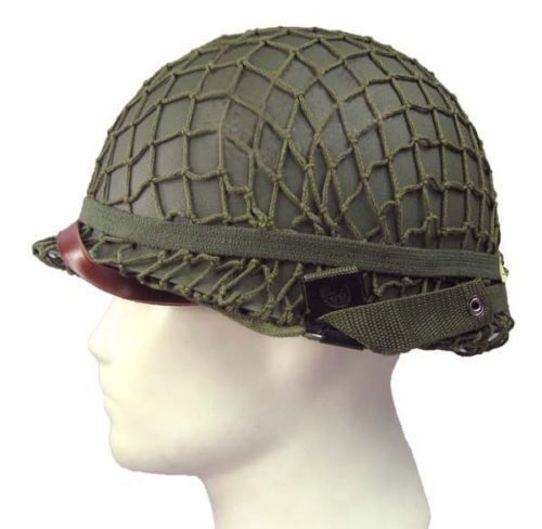 Top Quality World War 2 U.S M1 Military Steel Helmet With Netting Cover WWII Equipment Replica tactical metal helmet hunting world war 1