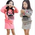2017 baby clothes set winter Girls clothing Minnie bow skirt suit children suit children suit wholesale children's skirt suits