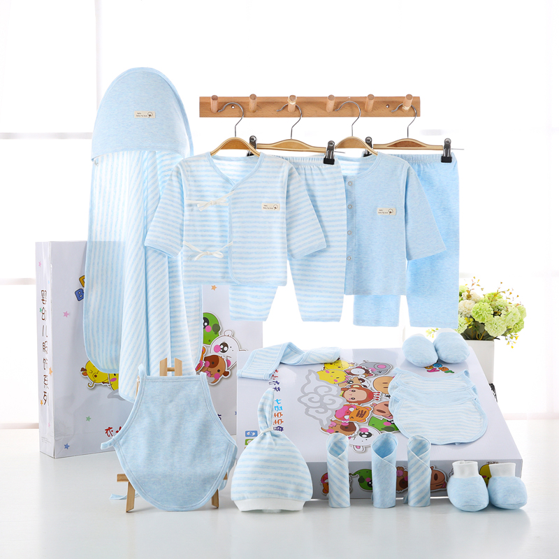 18PCS set newborn baby girls clothes Organic Cotton 0 6months infants baby girl boys clothing set baby gift set without box in Clothing Sets from Mother Kids