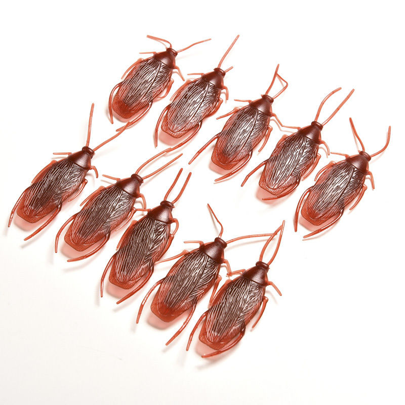 Honing 10 Stks/partij Speciale Levensechte Model Simulatie Nep Rubber Kakkerlak Cock Roach Bug Kakkerlakken Speelgoed Prank Grappige Truc Grap Speelgoed