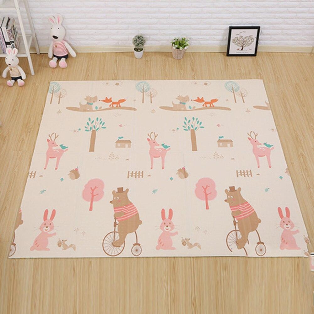 180*200 cm bébé tapis de jeu Puzzle tapis pour enfants épaissi Tapete bébé chambre ramper Pad tapis pliant bébé tapis