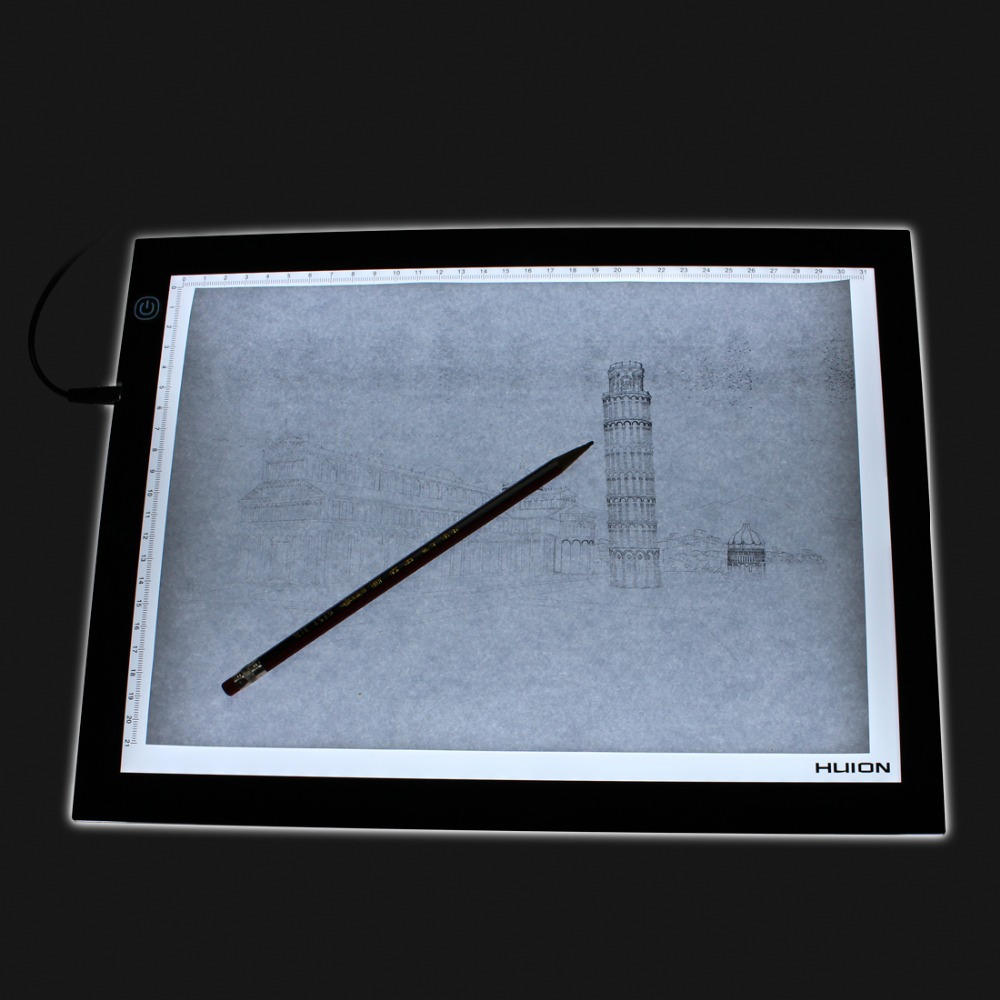 Aliexpress.com : Buy Huion A3 Adjustable LED Light Pad Ultra Thin Graphic Drawing Tablets Copy Board For Tattoo Stencil Picture Tracing Painting A3 from ...