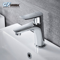 GFmark Brass Basin Faucets For Bathroom Sink Deck Mounted Wash Basin Taps Robinet Cold And Hot Water Mixer Chrome Faucet