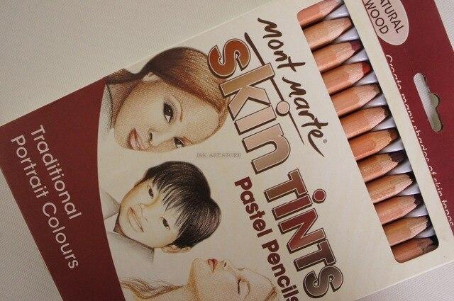 12 pieces Skin Tints Pastel Pencils ,skin tones colored pencils ...