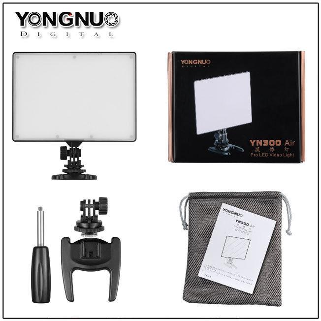 YONGNUO YN300 aire YN-300 PRO cámara de vídeo LED luz 3200 K-5500 K para Canon, Nikon, Pentax, Olympas Samsung DSLR y cámara