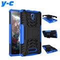 Para lenovo a2010 case nueva back case color de la mezcla de tpu y de la pc dual armor case con el soporte para lenovo a 2010