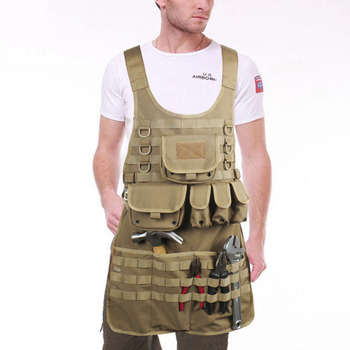 Outdoor tactical apron repair picnic barbecue camouflage apron