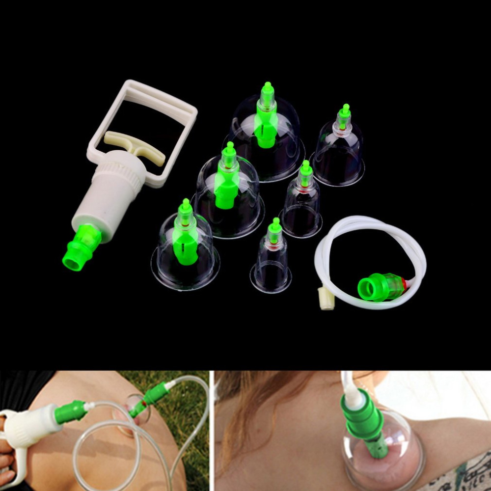 6pc Family Body Massage Helper Anti Cellulite Vacuum Plastic Cupping Cups Brand new and High quality Health Care Treatment