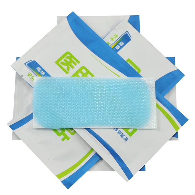 5PCS First Aid Ice Cooling Gel Patch Antipyretic Paster Fever Pain Relief Household Travelling
