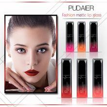 Pudaier 21 цветной матовый антипригарный чашечный длинный цветной блеск для губ стойкий жидкий макияж для губной помады