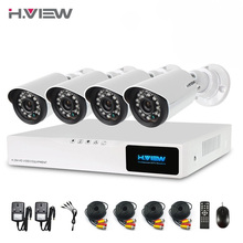 8CH Système CCTV 720 P NVR 4 PCS 720 P IR Intempéries Caméra Extérieure Système de Sécurité À Domicile de Surveillance Kits Email alerte H. Vue