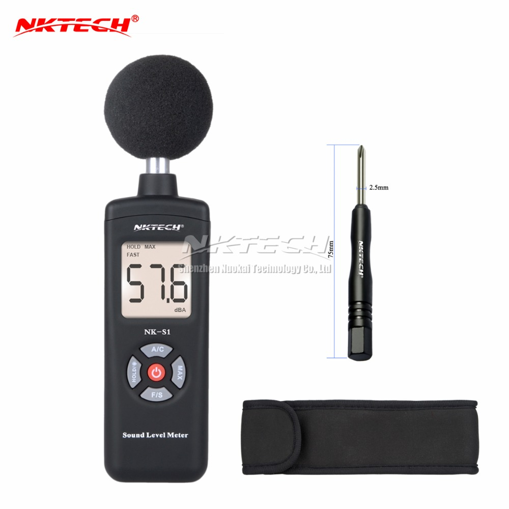 NKTECH NK-S1 Digital LCD Sound Meter Noise Level 30 ~130dB Freq 31.5Hz~8kHz Test Sound level meter Noise Meter VS MS6708 nktech nk s1 digital lcd sound meter noise level 30 130db freq 31 5hz 8khz test sound level meter noise meter vs ms6708