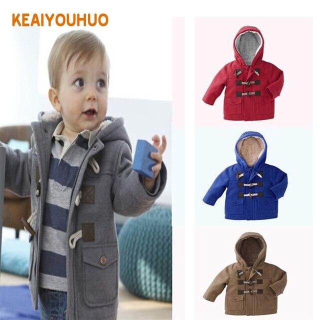 New 2018 Baby Boys Children outerwear Coat Kids Jackets for Boy Girls Winter Jacket Warm Hooded Children Clothing gray Khaki red