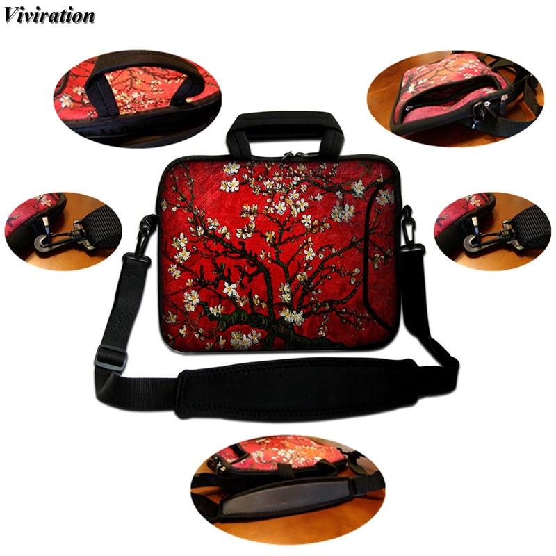 For Asus Dell Macbook Pro 15 15.6 13.3 11.6 Inch Laptop Messenger Bag 10 12 13 17 17 Viviration Cat Print Notebook Shoulder Case