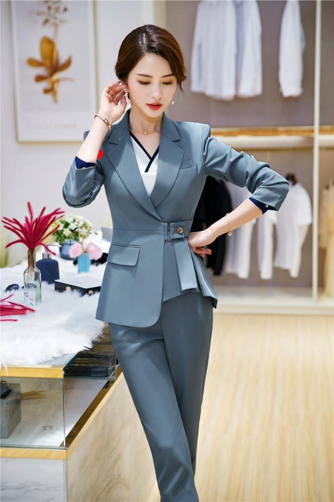 Formal Women Business Suits With Pants And Jackets Coat 2019 New Styles Autumn Winter OL Styles Ladies Office Pantsuits Blazers