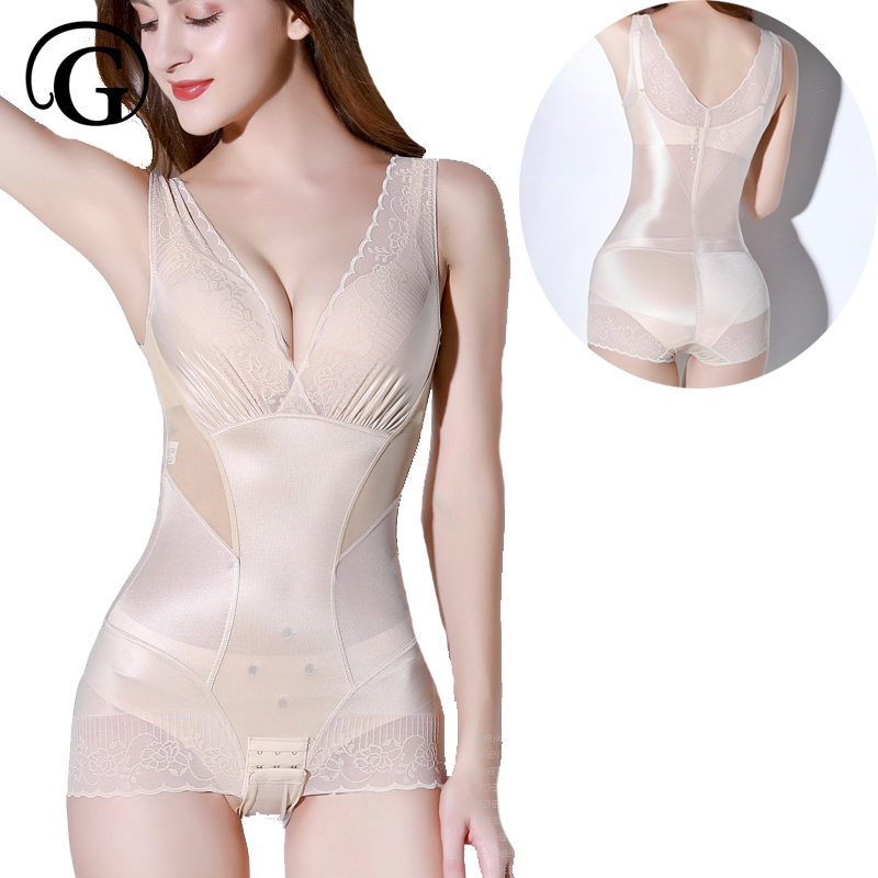 PRAYGER NEW Magnetic Sexy Women Bodysuits Lace Invisible Control Body Shapewear Lift Bras Shapers Slimming Waist Corset