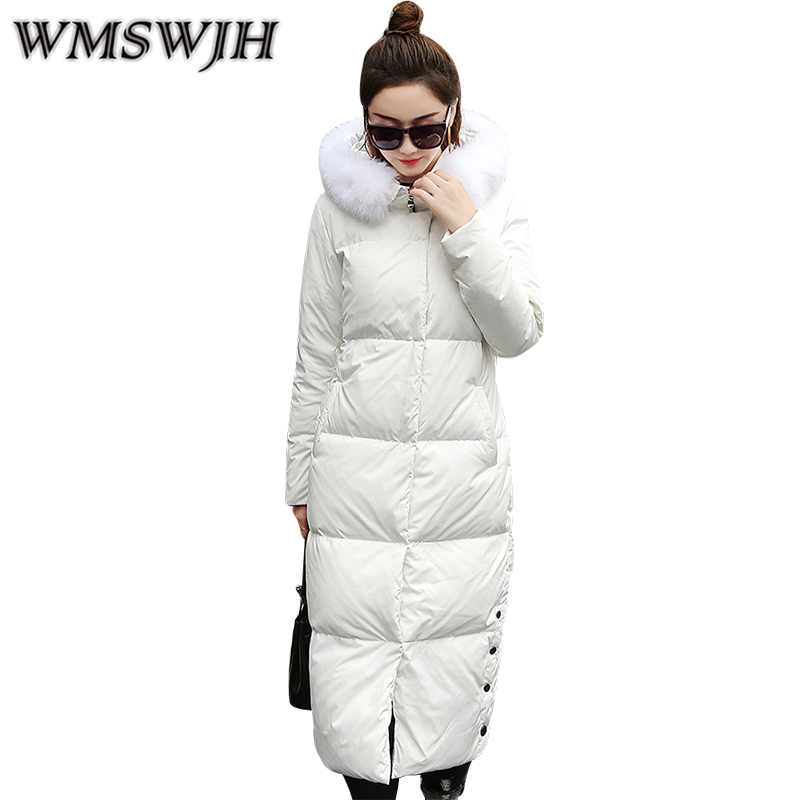 2017 Autumn/Winter Slim Fur Collar Hooded Parka Warm Jacket Zipper Coat Down Cotton Outerwear High Quality Winter Jackets Women women winter coat jacket 2017 hooded fur collar plus size warm down cotton coat thicke solid color cotton outerwear parka wa892
