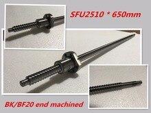 1 шт. 25 мм ШВП проката C7 ballscrew SFU2510 650 мм BK20 BF20 end обработки + 1 шт. SFU2510 ШВП Гайка