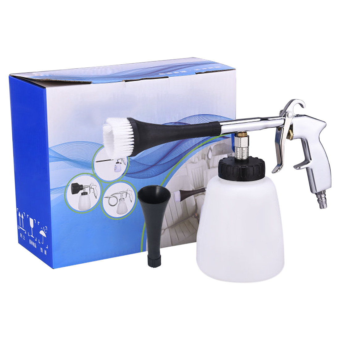 Image 4 - 2018 Car interior dry cleaning machine Tornado cleaning gun Cleaning the gap High pressure washer car cleaning tool Spray gun-in Sponges, Cloths & Brushes from Automobiles & Motorcycles