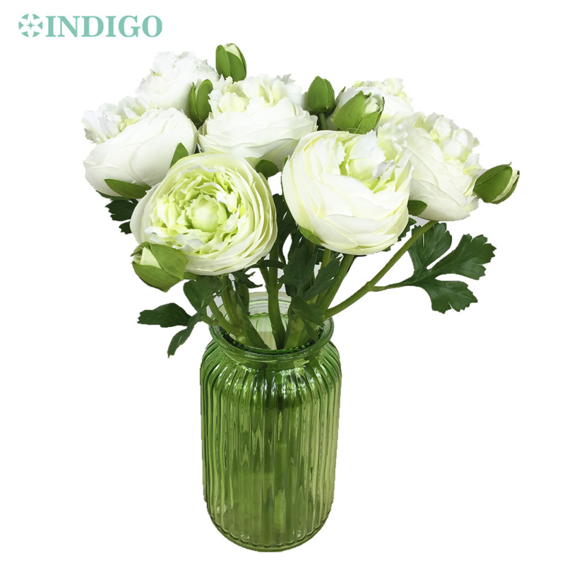 Us 20 32 15 Off Indigo White Onion Rose With Bud 9pcs Lot Table Decoration Artificial Flower Wedding Flower Party Event Free Shipping In Artificial