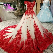 AIJINGYU فساتين الزفاف الساتان خمر ثوب كم 2021 والحصول على اليد الإسلامية السعودية تصميم ثوب الزفاف النرويج
