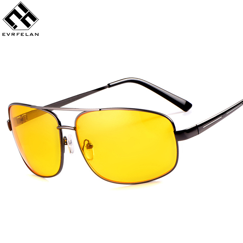 Pilot Night Vision Glasses Driving Yellow Lens Classic Anti Glare Vision Driver Safety Glasses For Men&Women