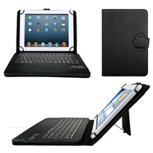 Universal Dechatable Bluetooth Keyboard & PU Leather Case Cover w/ Stand For Dell Venue 10 Pro 5000 5055