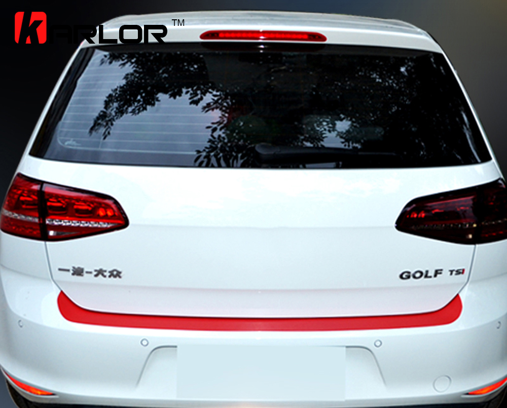 Auto Rear Bumper Trunk Tail Lip Carbon Fiber Protection Sticker And Decal Car Styling For Volkswagen VW Golf MK7 7 GTI Accessory