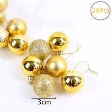 VOILEY Navidad 2018 24 Pcs Christmas Ball De Noel Decoracao Natal Party Wedding Hanging Ornament Christmas Decoration Supplies,7