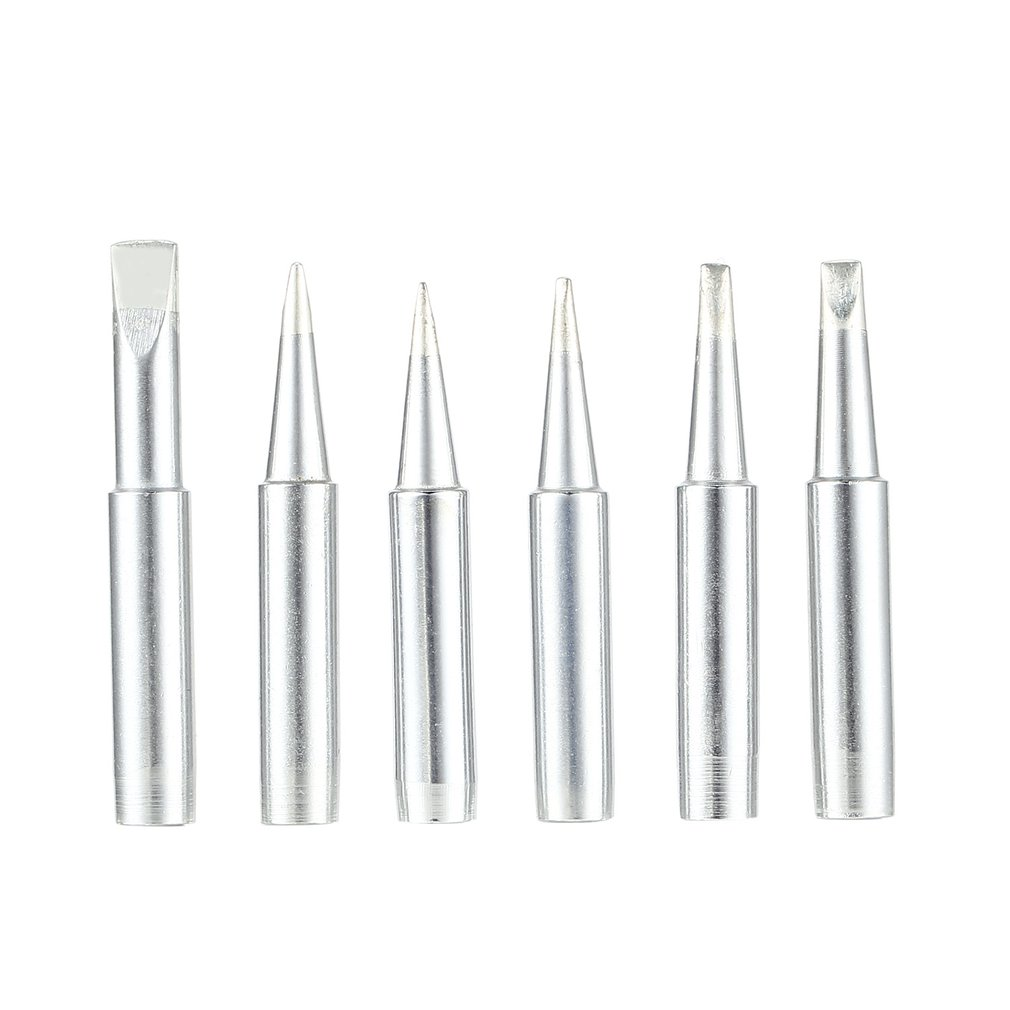 6PCS 900M Solder Soldering Iron Tip Replacement Rework Station Tool Copper Lead-free Welding Head Bits Electric DIY Repair