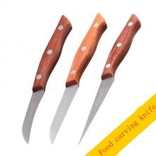 Free Shipping SHENGDE Chef Vegetables Fruit Carving Knife 3 PCS Set Professional Food Knives Kitchen Carved Graver