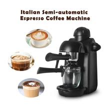Electric Espresso Coffee Machines Semi-automatic Compact Cappuccino Americano Machine Milk Foaming