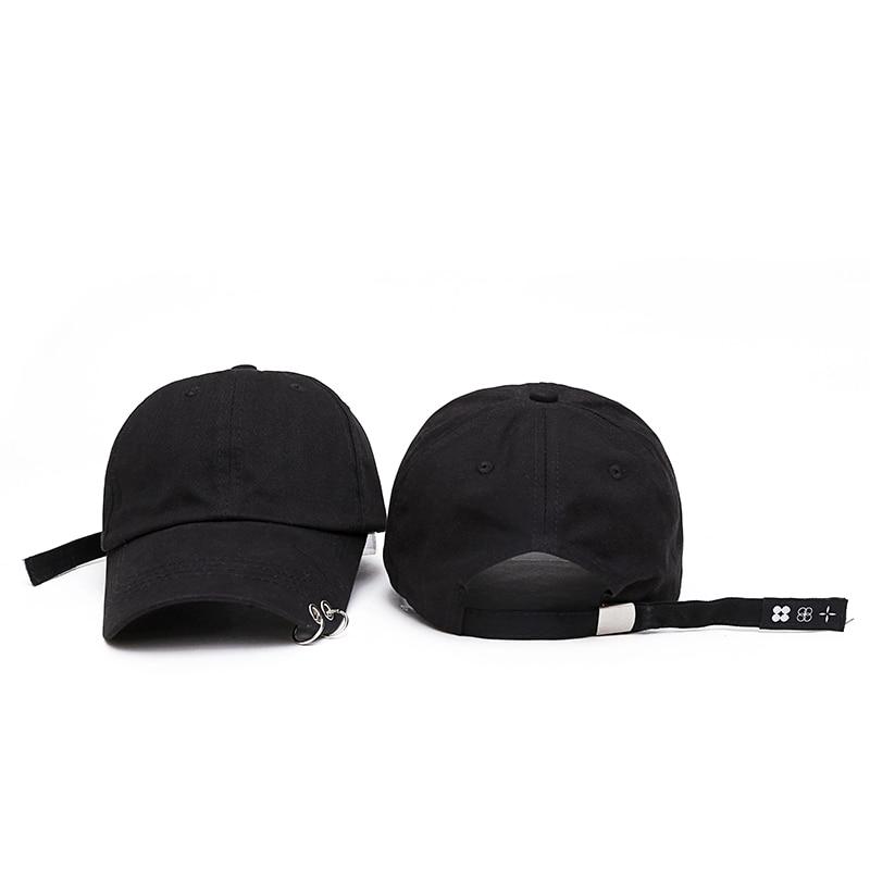 Hot selling 2017 New BTS JIMIN Fashion K POP Iron Ring Hats Adjustable Baseball Cap 100% Handmade Ring  hot selling bts suga fashion k pop xxxx embroidery hats adjustable baseball cap