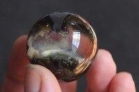 (37mm) 100% pelo fantasma verde natural de Cristal de cuarzo Esfera Bola de Curación