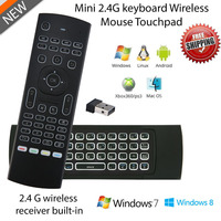 50 Pcs MX3 Mini Gaming Keyboard Air Mouse Backlight 2 4GHz IR Learning Fly Air Mouse
