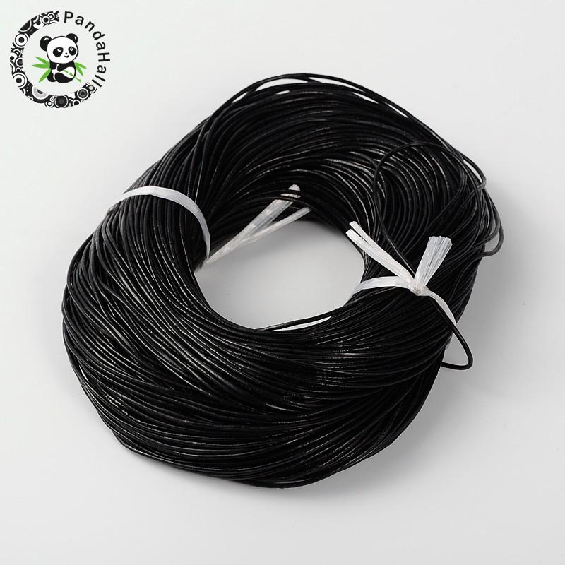 Cowhide Leather Cord 1mm 1.5mm 2mm 3mm Black Brown Leather Jewelry Cord Material For Jewelry Making DIY 100m