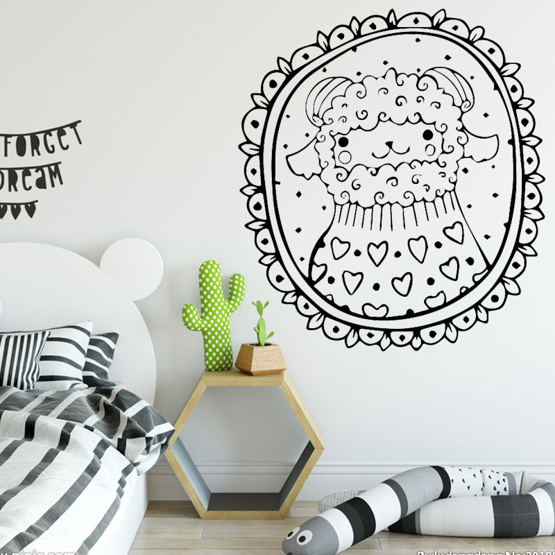 Creative Sheep Wall Sticker Pvc Wall Art Stickers Modern Fashion Wallsticker For Kids Rooms Decal Creative Stickers