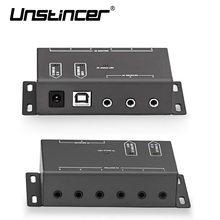 UNSTINCER IR Extender Infrared Repeater Remote Control Kit with 1 Receiver 6 Emitter
