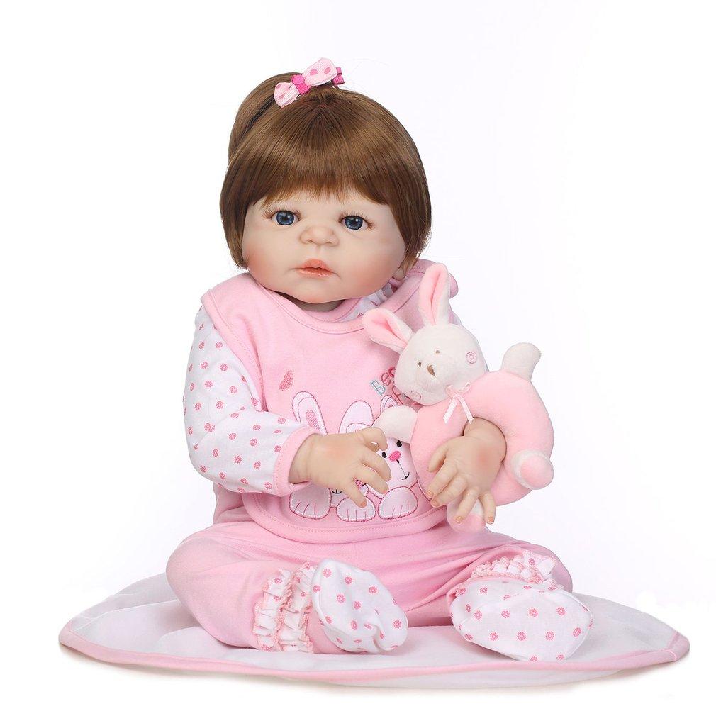 купить NPK 56cm Full Body Soft Silicone Vinyl Baby Doll Kids Babe Reborn handmade doll Playmate Gift Non-toxic Safe Toys Simulation Toy по цене 5695.26 рублей