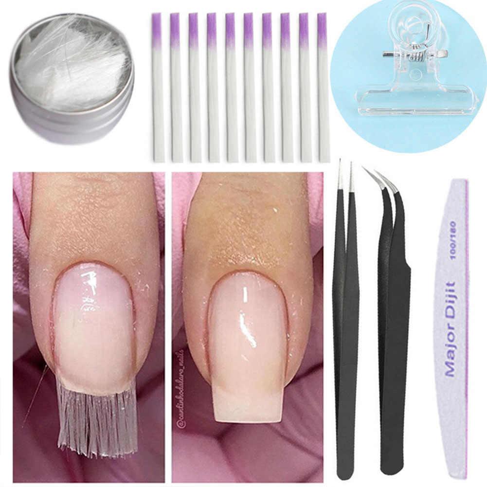 10 stks/pak Professionele Fibernails Glasvezel voor Nagel Nail Vorm Acryl Tips Valse Manicure Salon Tool Set Kits J19