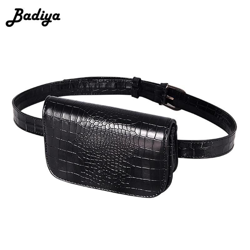 New Arrival  Bag Vintage PU  Leather Waist Sports Bags Women Alligator Waist Pack  Outdoor Travel Belt Wallets  wallet