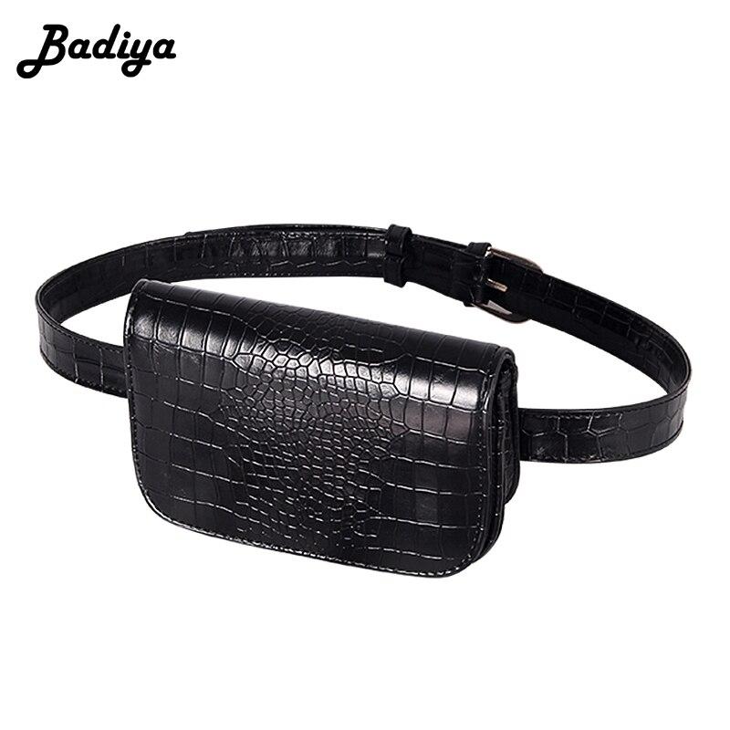 698e7e3c69 Vintage taille sac femmes Alligator PU cuir ceinture sac taille Pack voyage  ceinture portefeuilles Fanny sacs