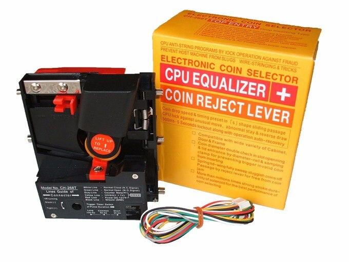 CH-268 Top entry CPU comparable coin sélecteur accepteur pour UA $1 OU $2 ou de pièces ou jetons sous 2.8mm